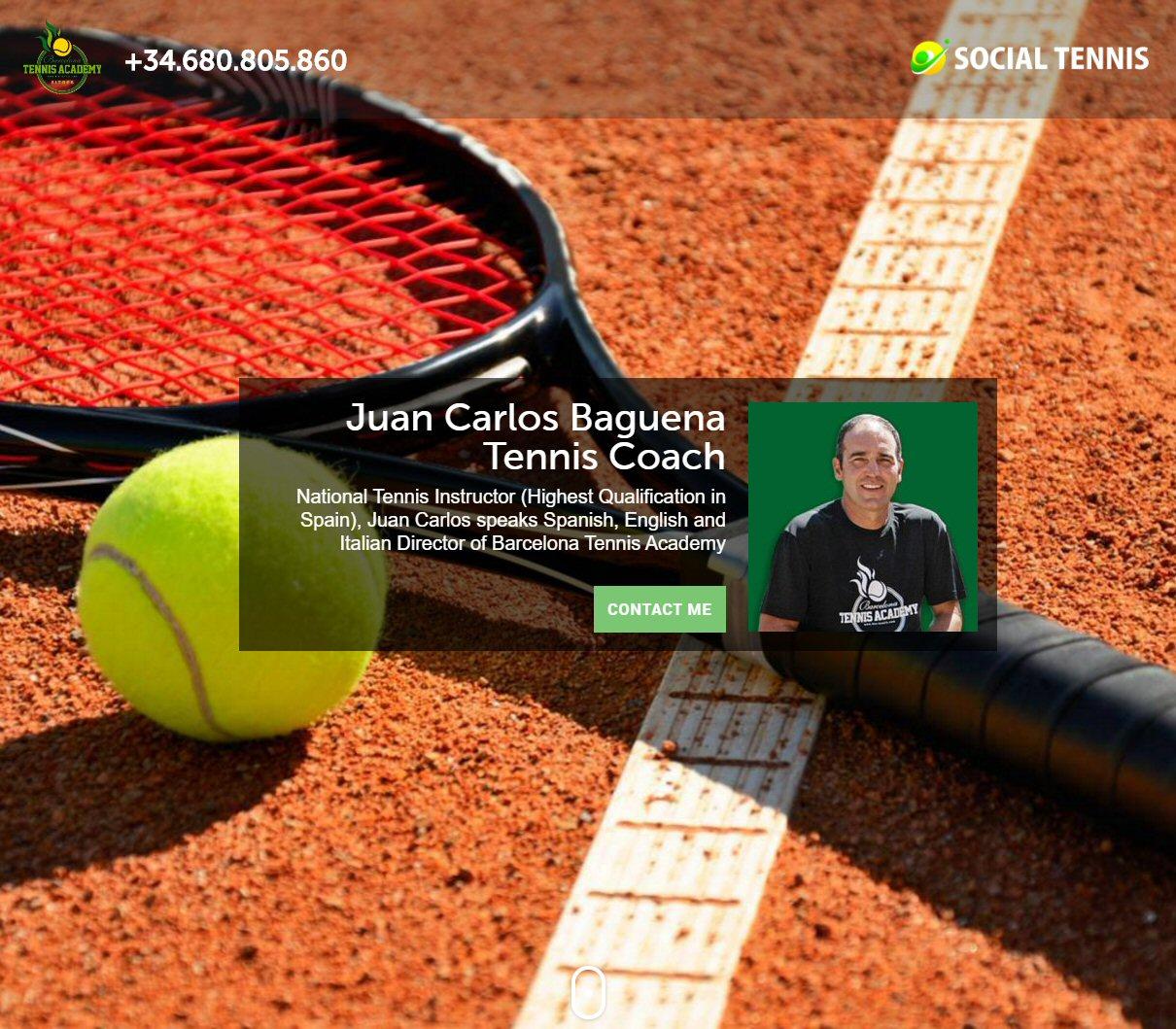 tennis coach webpage